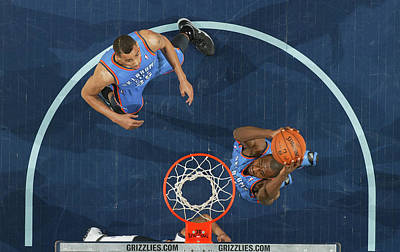 Photograph - Oklahoma City Thunder V Memphis by Joe Murphy