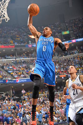 Photograph - Oklahoma City Thunder Vs Memphis by Jesse D. Garrabrant