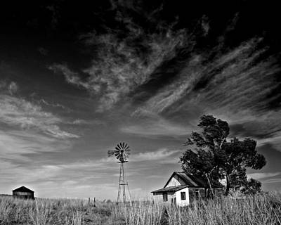 Art Print featuring the photograph Oklahoma Farm by Christopher McKenzie