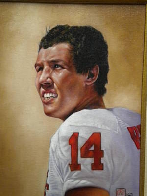 Heisman Trophy Winners Painting - Oklahoma Heisman Trophy Winner by Mahto Hogue