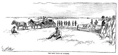 Destiny Drawing - Oklahoma Land Rush, 1889 by Granger