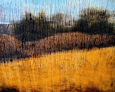 Nature Abstract Mixed Media - Oklahoma Prairie Landscape by Ann Powell