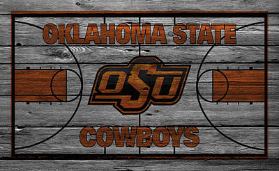 Oklahoma State Cowboys Art Print by Joe Hamilton
