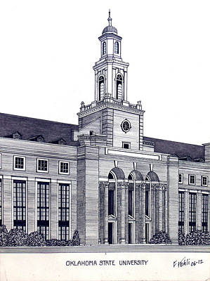 Drawing - Oklahoma State University by Frederic Kohli