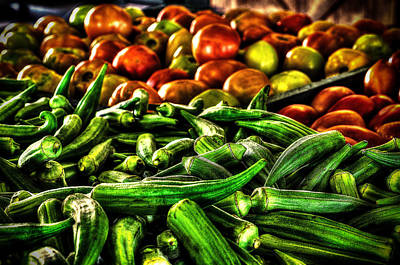 Photograph - Okra And Tomatoes by David Morefield