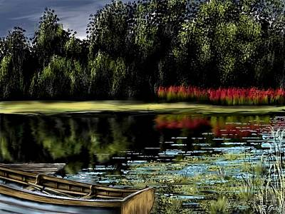 Painting - Ol' Fishin' Hole by Ron Grafe
