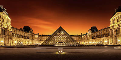 Louvre Photograph - Old & New by Christophe Kiciak