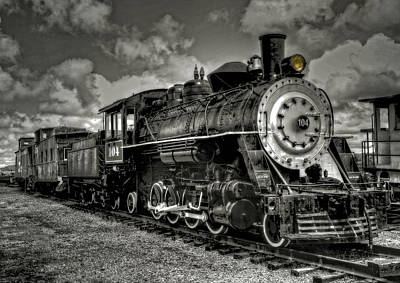 Old 104 Steam Engine Locomotive Art Print
