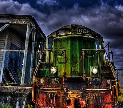 Art Print featuring the photograph Old 6139 Locomotive by Thom Zehrfeld