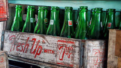 Old 7 Up Bottles Art Print by Thomas Woolworth