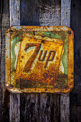 7 Up Photograph - Old 7 Up Sign by Garry Gay