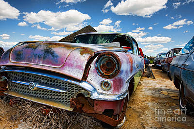 Old Abandoned Cars Art Print
