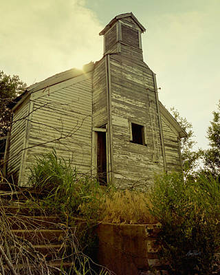 Photograph - Old Abandoned Country  School by Ann Powell