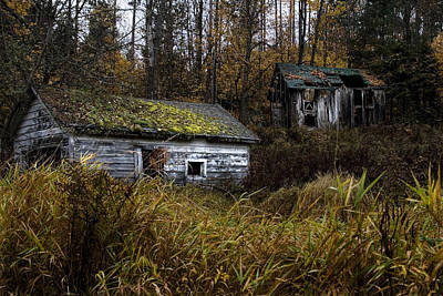 Photograph - Old Abandoned Homestead by Wally Edwards