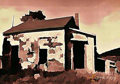 Haunted House Digital Art - Old Abandoned House In Cape Breton by John Malone