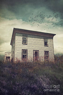 Photograph - Old Abandoned House On The Hill by Sandra Cunningham
