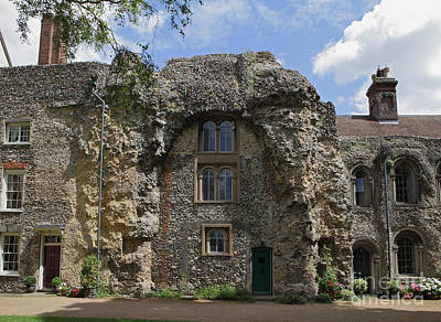 Photograph - Old Abbey Ruins At Bury St Edmunds by Nicholas Burningham