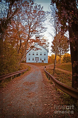 Gravel Road Photograph - Old Academy South Woodstock by Edward Fielding