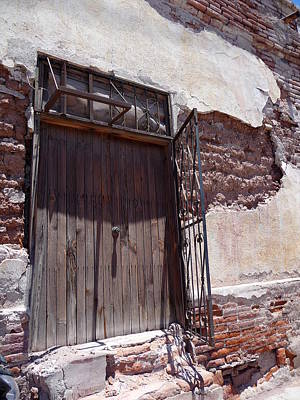 Achieving Royalty Free Images - Old Adobe Brick Building in Guaymas Mexico Royalty-Free Image by Juanita Witkop