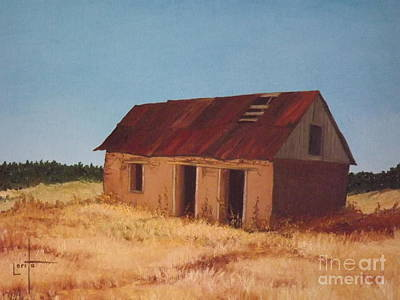 Red Roof Mixed Media - Old Adobe House by Lorita Montgomery