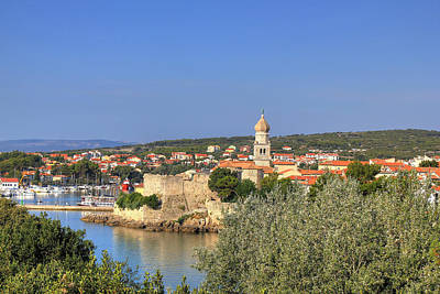 Photograph - Old Adriatic Town Of Krk Waterfront by Brch Photography