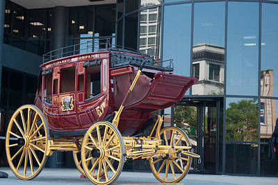 Wells Fargo Stagecoach Photograph - Old Against New by Craig Hosterman