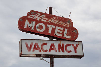 Photograph - Old Alabama Motel Sign In Prattville by Carol M Highsmith