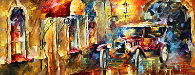 Alleyway Painting - Old Alleyway by Leonid Afremov