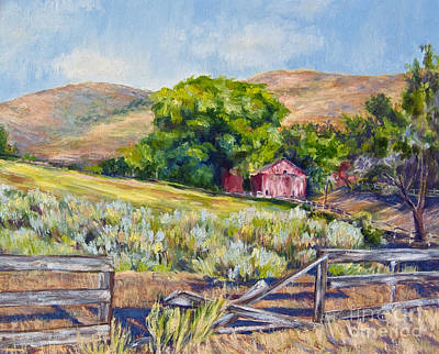Old Almond Orchard Barn Original