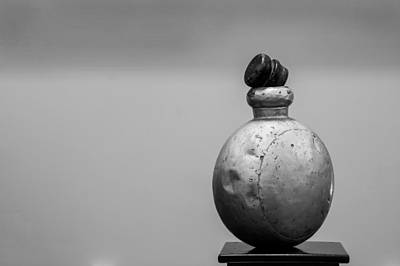 Photograph - Old Alumina Drug Bottle by Kantilal Patel