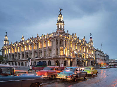 Old American Cars And The Cuban Art Print by Buena Vista Images