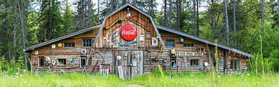 Photograph - Old Americana Barn, Montana, Usa by Peter Adams