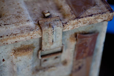 Photograph - Old Ammunition Trunk by Carole Hinding