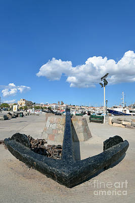 Anchor Photograph - Old Anchor In Aegina Port by George Atsametakis