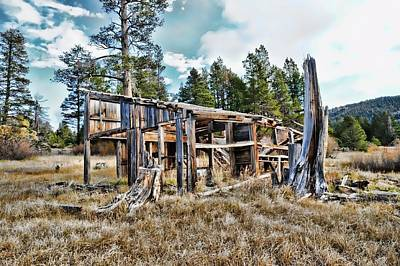 Dilapidated Mixed Media - Old And Forgotten by Don Bendickson