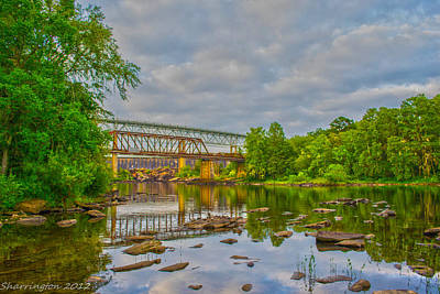 Photograph - Old And New Bridges by Shannon Harrington