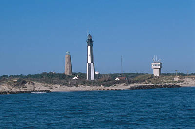 Cape Henry Lighthouse Photograph - Old And New Cape Henry Lighthouses by Bruce Roberts
