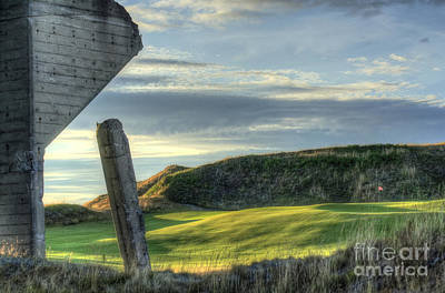 Golf Photograph - Old And New - Chambers Bay Golf Course by Chris Anderson