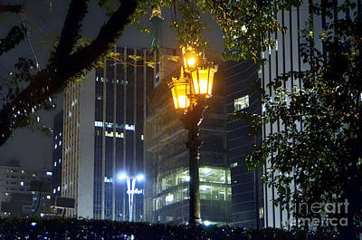 Old And New Lamp Posts - Paulista Avenue Art Print by Carlos Alkmin