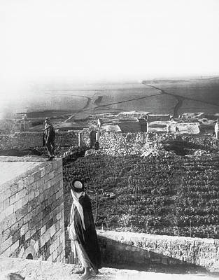 Madaba Photograph - Old And New Madaba Site by Underwood Archives