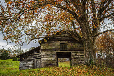 Barn In The Woods Photograph - Old Appalachian Barn by Debra and Dave Vanderlaan