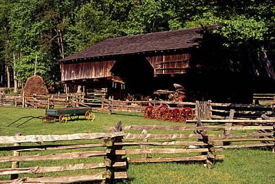 Photograph - Old Appalachian Farm Cantilevered Barn by Paul W Faust -  Impressions of Light