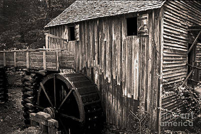 Old Appalachian Mill Print by Paul W Faust -  Impressions of Light