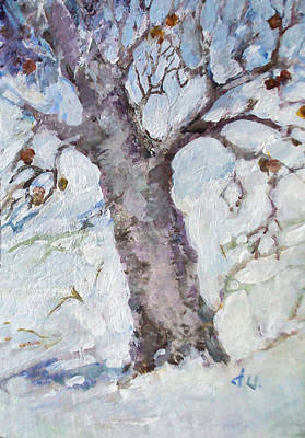 Painting - Old Apple Tree by Diane Ursin