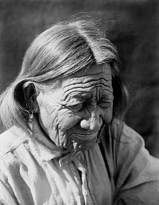 Wall Art - Photograph - Old Arapaho Man Circa 1910 by Aged Pixel