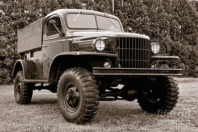 Photograph - Old Army Truck by Olivier Le Queinec