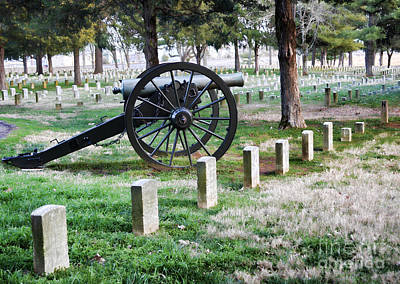Photograph - Old Artillery In Union Grave Yard by Donna Greene