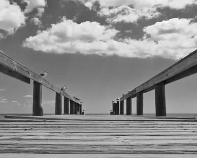 Bahamas Pier Photograph - Old Bahama Pier by Thomas Preston