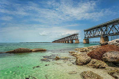 Photograph - Old Bahia Honda Bridge by Kelley Nelson