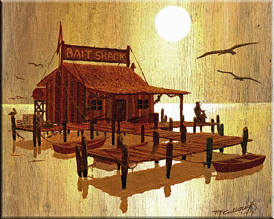 Painting - Old Bait Shack Painting by Duane McCullough